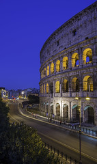 Colosseum (Marvin Derond) Tags: street city trip travel blue summer sky urban italy rome colour roma beautiful night nikon europe italia antique colosseum bluehour 1855mm capitale nuit colisseum colisse d5200