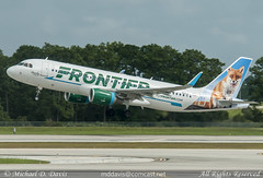 Frontier Airlines Airbus A320-214 (N229FR) (Michael Davis Photography) Tags: airplane photography orlando aviation flight jet airbus departure takeoff runway frontier mco airliner a320 f9 orlandoairport frontierairlines kmco n229fr
