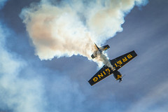 Breitling Spiral (simplediscoveries) Tags: plane smoke airplanes dive houston airshow stunt aerobatics breitling ellington wingsoverhouston ellingtonfield