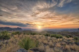 Sotol Vista Sunset Big Bend National Park