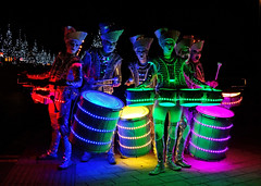 World Beaters' Spark! Drummers (Ermintrude73) Tags: color colour colors festival night catchycolors outdoors colours drum illuminations illumination celebration event nighttime nightime drummer procession colourful spark drummers nite nocturnes catchycolorsyellow catchycolorsgreen catchycolorsred catchycolorsblue catchycolorspink noflashphotography worldbeaterssparkdrummers