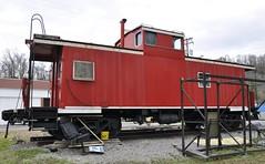 St. Paul, Virginia (4 of 6) (Bob McGilvray Jr.) Tags: railroad red train private virginia nw steel tracks stpaul caboose business va cupola norfolkwestern