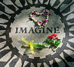Imagine (soboy5) Tags: nyc flowers manhattan imagine johnlennon tribute centralpark strawberryfields