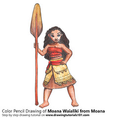 Moana Waialiki from Moana with Color Pencils (drawingtutorials101.com) Tags: moana disney cartoons movies animated walt moanna princesses sketching pencil sketch sketches drawing draw speeddrawing timelapse timelapsevideo coloring color how