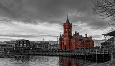 Pierhead in red - Cardiff 15-1-17 (scamart1st) Tags: cardiff pierhead bay processed nikon d750 uk red brick