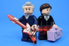 Rockstar (MrKjito) Tags: lego minifig doctor who 12th clara guitar boombox rockstar bbc peter capaldi music band