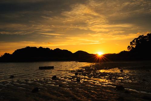 隨著晨曦光線變化,大埔三門仔岸邊呈現不同風貌,不同美態!