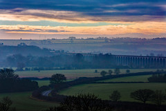 Hazy Sunday Morning (Peter Leigh50) Tags: meridian high speed train harringworth viaduct welland valley rutland northamptonshire east midland trains railway haze hazy mist