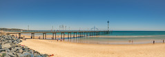 Brighton Beach (Anthony's Olympus Adventures) Tags: adelaide southaustralia sa australia beach jetty pier sand ocean water sea gulfstvincent afternoon sunny sky panorama panoramic summer shore view beachscene olympusem10 olympus olympusomd photo photography lightroom flickr beautiful wow amazing colour color vibrant