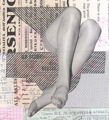 ladylike sit (kurberry) Tags: collage cutandpaste analoguecollage vintageephemera tracingpaper stockings
