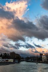Sochi River (DVchigarev) Tags: cloud sky outdoor river water sunset serene sea skyline landscape mountain dusk sochi russia subtropical 70d 24105 l usm