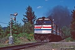 Cascades - Deschutes Special (C.P. Kirkie) Tags: amtrak amtk passengertrain railroads trains sp southernpacific oregon spshastaroute spcascadesubdivision superliner wigwag excursiontrain amtrakexcursion f40ph emd