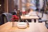 In Reihe (Gret B.) Tags: tisch tische bremen dekoration weihnachtsstern aschenbecher restaurant