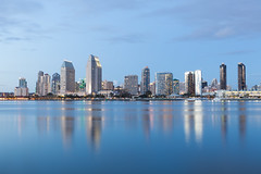 San Diego Skyline (russellstreet) Tags: reflection california unitedstatesofamerica sandiego sandiegoskyline usa