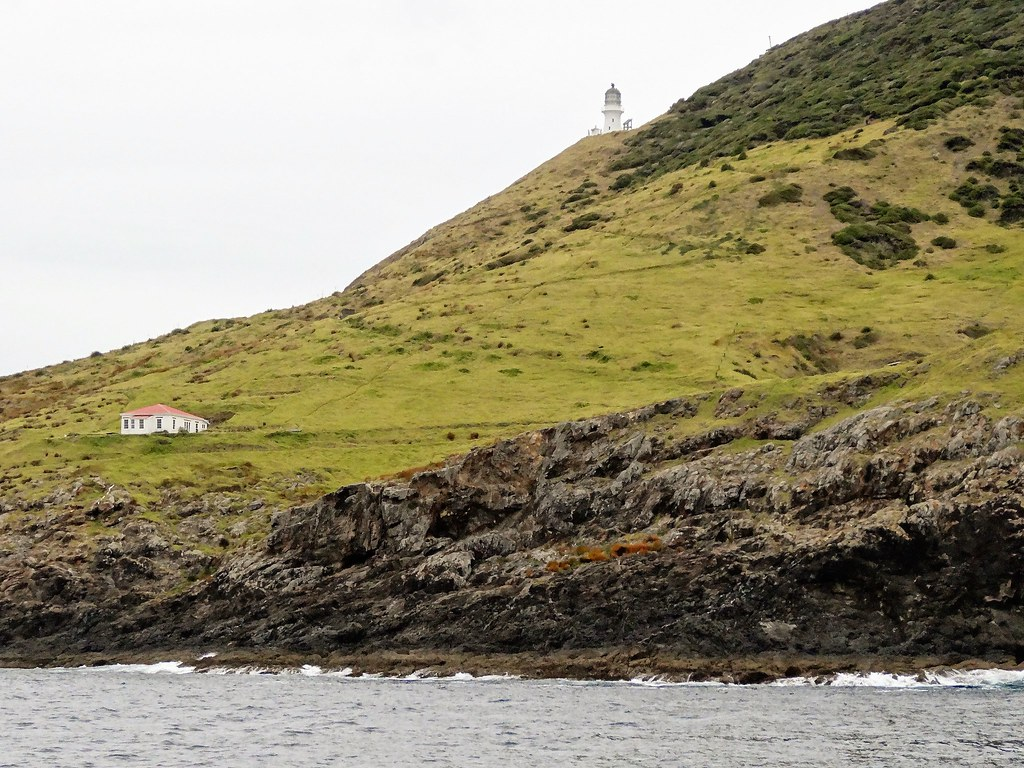 Bay of Islands.  Lighthouse at the entrance to the bay with hundreds of small volcanic islands.