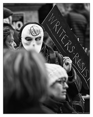 Writers Resist (GAPHIKER) Tags: protest 5thave lovetrumpshate troactionorg rally newyorkcity nyc writersresist writers resist dumptrump trump mask