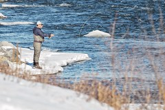 01200316b - Fishing on the Bow River (geelog) Tags: alberta calgary fishcreekpark bowriver flyfishing january sunny