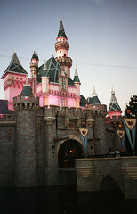 Sleeping Beauty Castle, Disneyland, Anaheim, CA. (lammyracer) Tags: sleepingbeautycastle disneyland minolta af2 film 35mm