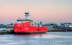 Astrolabe (serge der) Tags: concarneau navire bateau port rouge brise glace finistere bretagne brittany hdr canon piriou