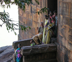 2006 India,  Badami 0133.jpg (Mandir Prem) Tags: indians ancient temple travel wildlife asia backpakers peoples mandir exotic bw outdoor nature india places badami children friends relative евгений жиров мандир