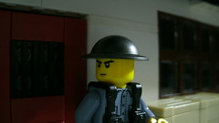Lego WWII Chinese KMT Brodie Soldier (Force Movies Productions) Tags: lego minfig minifigure minifigs toy kuomintang kmt chinese china second sinojapanese war wwii world wars photograpgh photo photograph scenes screenshot asia brickmania brickarms bricks brickfilm stopmotion asian frame picture military minifig soldier scene scenery custom brickizimo brick blue brodie