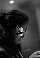 (robbraby) Tags: 1600 trix pushed monochrome film kodak olympusom2n portrait bw zuiko analogue people mask