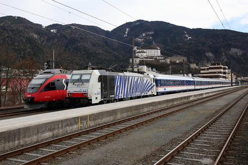Lokomotion 186 441-2 Meridian Ersatzzug, Kufstein
