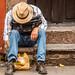2016 - Mexico - Morelia - Scooping Peanuts