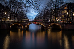 Phantom of the bridge (farflungistan) Tags: amsterdamcanals canon7d longexposure winter201617 nightphotography amsterdam prinsengracht canalbridge bluehour