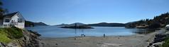 Eastsound Beach (Worthing Wanderer) Tags: washington usa sunny summer hot sea mountains islands sanjuanislands orcasisland anacortes eastsound