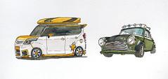 Custom cars_Korea (velt.mathieu) Tags: car sketch mini korea croquis 한국