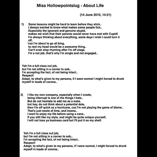 Rap lyric written by