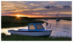 Sunset Over Branchester Staithe (Digital Wanderings) Tags: sunset nationaltrust brancaster northnorfolk brancasterstaithe norfolkcoast