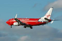 OO-VEG_20061126_052_M (Black Labrador13) Tags: plane aircraft virgin civil express boeing avion airliners 737 bru vliegtuig b737 ebbr 737300 73736n ooveg