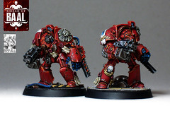 Brother Leonos & Damaris (Duca Strige) Tags: infantry angel blood 40k warhammer terminator squad alphaeus deathstorm