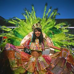 Panamanian Parade 2015 (slightheadache) Tags: street colors costume feathers slidefilm parade velvia panama velvia50 2015 panamanianparade brooklynian