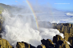 Arco iris (Xavier Mas Ferr) Tags: arcoiris temporal ola nuevazelanda arcdesantmart pankakerocks