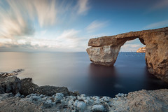 Tieqa erqa (S l a w e k) Tags: longexposure sea seascape motion blur landscape island coast mediterranean natural smooth rocky malta cliffs rugged gozo azurewindow