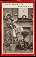 Anti-Suffrage Postcard, c. 1910.