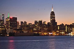 Pre Dawn New York (Lojones13) Tags: newyorkcity skyline dawn cityscape empirestatebuilding bluehour