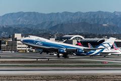 Air Bridge Cargo Boeing 747-400 freighter departs the south complex at LAX (beltz6) Tags: losangeles california lax klax lax2015 laxspotters avgeek airplane aviation airport losangelesinternationalairport boeing boeing747 boeing747400 airbridgecargo 747 vqbuu