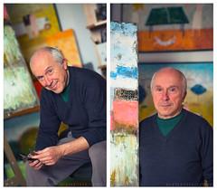 Gia Revazi at work (Tinatin Revazi) Tags: portrait art georgia studio artist paintings georgian gia tbilisi giorgi    revazishvili  revazi