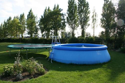 zwembad in juli en aug