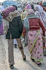 INDIA7378/ (Glenn Losack, M.D.) Tags: street people india portraits photography photographer spirit delhi muslim islam glenn religion poor photojournalism buddhism impoverished flip flops local hindu hinduism scenics handicapped deformed amputee prosthetic mela beggars allahabad kumbh glennlosack losack glosack dahlits