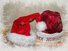 God Bless us everyone... (MissyPenny) Tags: bahhumbug holiday santa hat red border explore hatsandco smileonsaturday