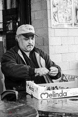 Working (MARCOCARCEAPH) Tags: street people bw italy roma mono blackwhite nikon italia working streetphotography it persone job monocromatico