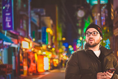 street snap in Japan (color photo) Tags: street city winter light boy color night nikon colorful cityscape bokeh outdoor snap nightlight colorfullights nightview inthecity d810 bokehsparkles