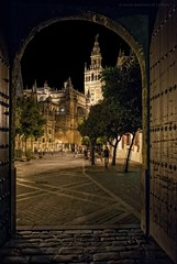 Sevilla eterna (Javier Martinez de la Ossa) Tags: espaa sevilla andaluca spain puerta catedral seville giralda arco catedraldesevilla plazadeltriunfo alcazardesevilla javiermartinezdelaossa