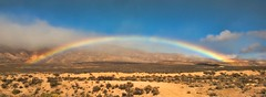 MOJO IN THE MOJAVE (Irene2727) Tags: sky nature colors landscape rainbow sand desert mojave mojavedesert arcobalena