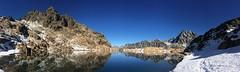 Lake Ingalls (Sean Munson) Tags: panorama lake snow mountains reflection water landscape washington hiking stuart nationalforest alpinelakeswilderness ingallslake mtstuart mountstuart alpinelakeswildernessarea ingallswaytrail ingallsway lakeingalls okanoganwenatcheenationalforest trail1360 ingallswaytrail1360